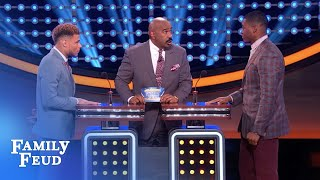 Amari Cooper keeps the Feud GUESSING! | Celebrity Family Feud  | OUTTAKE