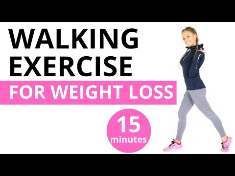HOME WORKOUT - 15 MINUTE WALKING WORKOUT FOR WEIGHT LOSS  - the easy way to burn calories at home
