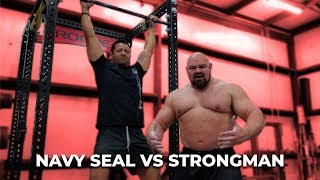 Download Song WHO CAN DO MORE PULL-UPS? NAVY SEAL VS 4X WORLDS STRONGEST MAN Free StafaMp3