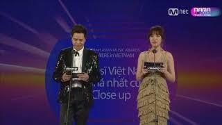 Sơn Tùng MTP thắng giải Nghệ sĩ Việt Nam đột phá ASIAN MUSIC AWARDS MAMA 2017