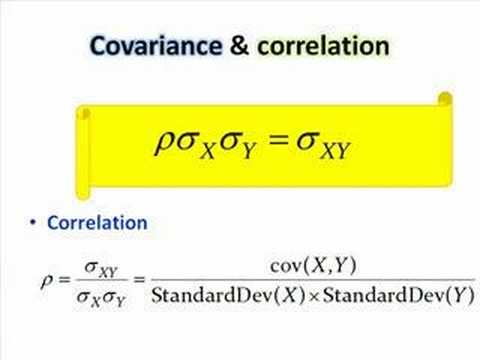 Covariance formula correlation
