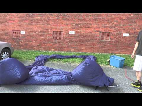 Inflatable Outdoor Movie Screen Setup