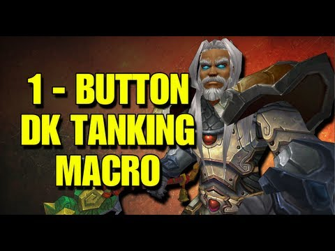 Bajheera - 1-Button Blood DK Tanking Macro - Death Knight Leveling Tip! :D