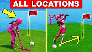 """""""Hit a Golf Ball from Tee to Green on Different Holes"""" ALL LOCATIONS Fortnite WEEK 5 CHALLENGES"""