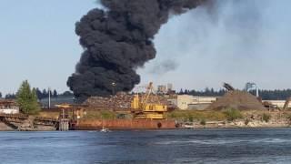 Schnitzer Steel caught Fire Today