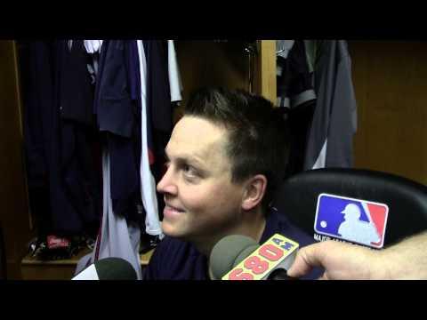 Kris Medlen Braves Pitcher postgame at Detroit 4-27-13.