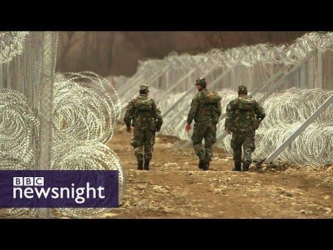 The fences being built around Greece - BBC Newsnight