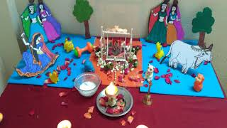 Krishna janmashtami simple/easy decoration/celebration at home