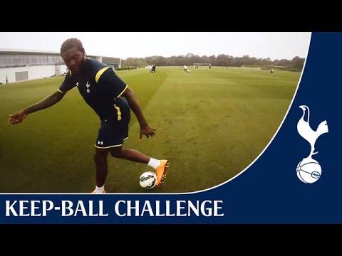 Eric Dier & Emmanuel Adebayor: Keep-ball Challenge