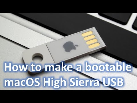 How to make a Bootable macOS High Sierra USB