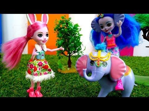 Видео для девочек - куклы Энчантималс в зоопарке