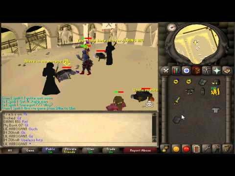 Arrogant L | Runescape 2007 | Low Level 70 Defence Tank Pure Staking Video #4 | 12.5m+ Loot!