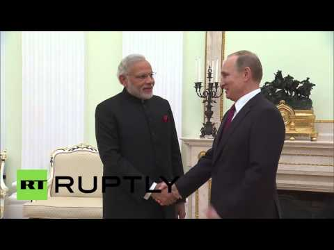 Russia: Putin greets Indian PM Modi ahead of high-level talks in Moscow