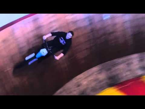 Electric  motorcycle  on the wall of death
