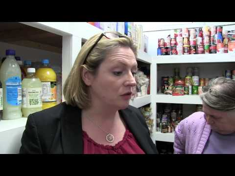 ELECTION '15. LOCAL MP MARY MACLEOD GRILLED AT FOOD BANK.