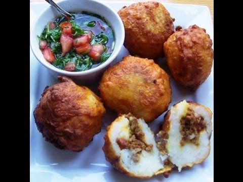 "RECETA MUY FACIL "" PAPAS RELLENAS "" (TYPICAL FOOD LATINOAMERICA)"