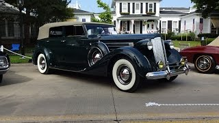 1937 Packard Model 1508 Convertible Sedan & V12 Engine Sound on My Car Story with Lou Costabile