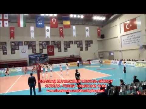 TURKEY-ROMANIA Star Women's Volleyball Team, 2015 CEV,Alanya,Antalya-TURKEY.