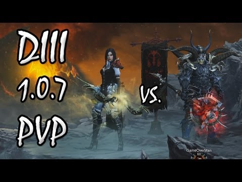 Diablo 3: Patch 1.0.7 PvP Brawling Commentary (Demon Hunter & Barbarian)