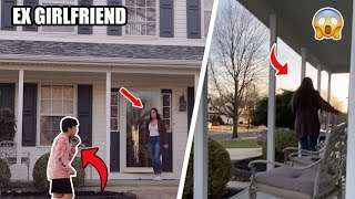 DING DONG DITCHING MY EX GIRLFRIEND! (SHE CAME OUTSIDE)
