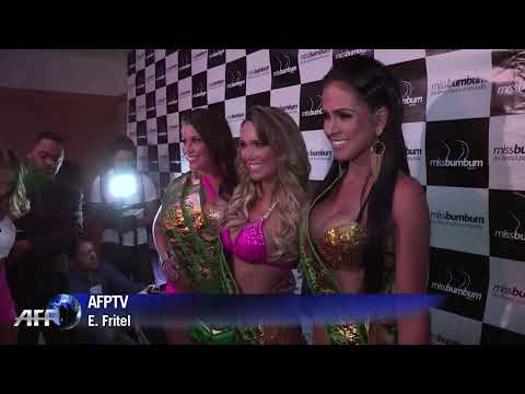 Brazil's best buttocks at Miss BumBum 2013 pageant.