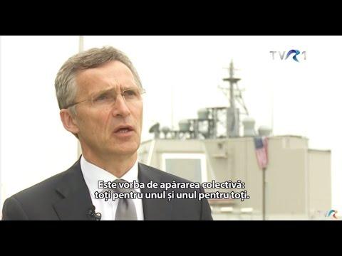 Interviu realizat la Deveselu cu Jens Stoltenberg, secretarul general NATO