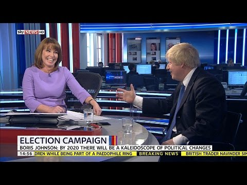 Kay Burley Asks Boris Johnson Whether He'd Like To Be PM