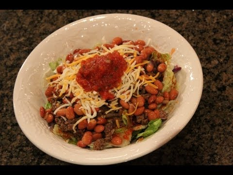 Bodybuilding Meal:  High-Protein Taco Salad