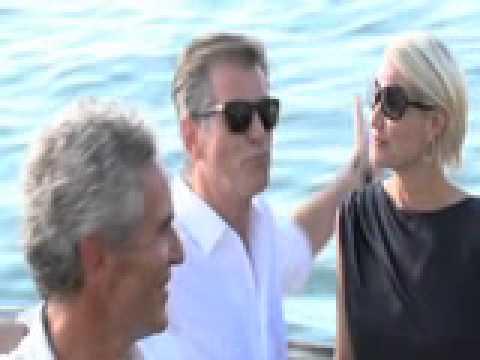 Pierce Brosnan Boat Departure 2