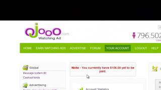 Wad Ojooo Earn money Online! With Payment Proof $106  Join Now and Start Earning!