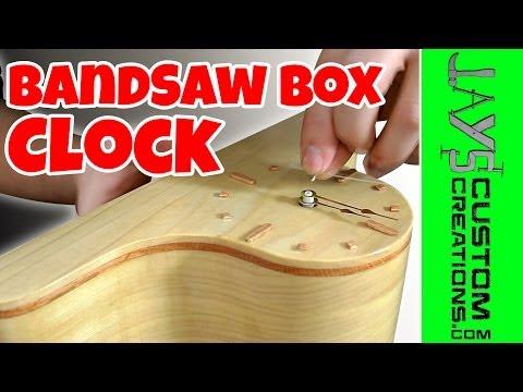 Make A Bandsaw Box Clock With Hidden Storage - 116