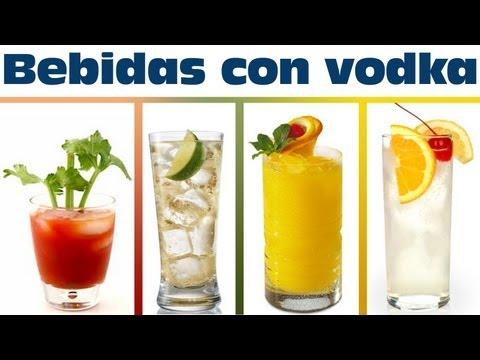 Bebidas con vodka MUY FÁCILES de preparar | Bebidas preparadas con alcohol
