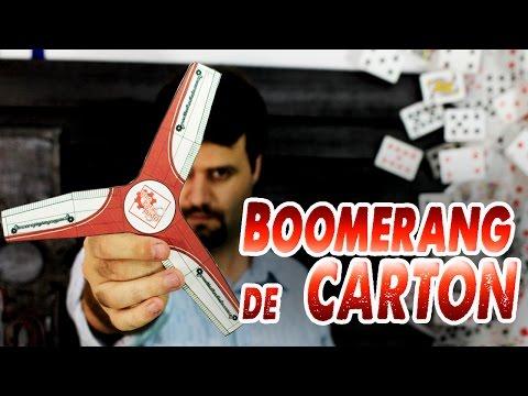 Como Hacer Un Boomerang De Cartón video