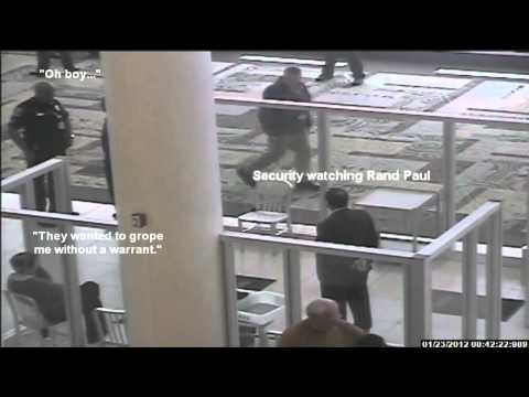 Official Surveillance Video of Rand Paul Detained by TSA at Nashville Airport