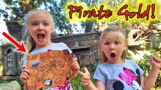 Pirate Treasure Chest Found on Pirate Island! Bandits Steal My Map!!!