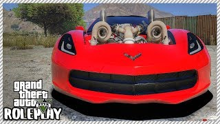 GTA 5 Roleplay - Monster 1,300bhp Twin Turbo Drag Corvette | RedlineRP #269