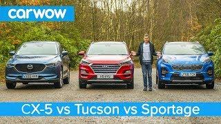 Mazda CX-5 v Hyundai Tucson v Kia Sportage - which is the best affordable SUV?