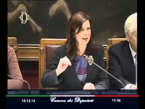 Roma - Scambio auguri tra la Presidente Boldrini e la Stampa parlamentare (18.12.14)