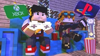 Minecraft: XBOX VS PLAYSTATION - SURVIVAL LUCKY DUPLA ‹ AM3NIC ›