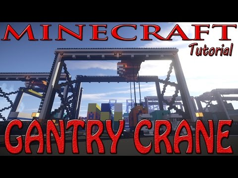 Minecraft Gantry Crane Tutorial (Shipping Dock)