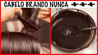 👉🏽Tinta NATURAL p/CABELO BRANCO 👉🏽Aprenda a Preparar em CASA-CABELO BRANCO GRISALHO nunca ++ #cabelo