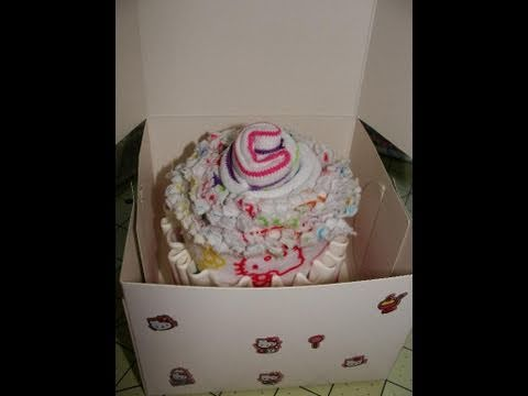 How To Make A Burp Cloth And Baby Sock Cupcake  Tutorial  With Cookingandcrafting