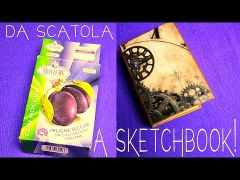 Come fare uno sketchbook da una scatola