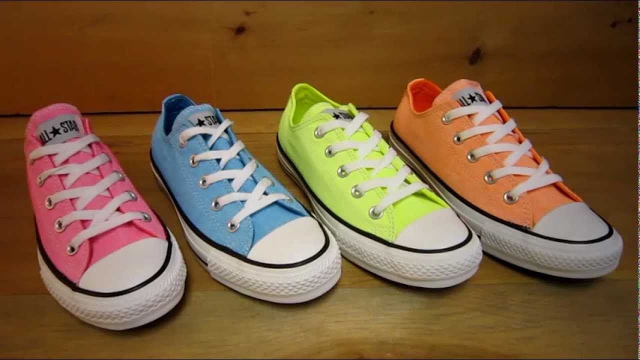 Converse Neon Orange Shoes