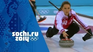Women's Curling - Round Robin - Russia v USA   Sochi 2014 Winter Olympics