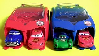 Disney Cars 2 Radiator Springs Launcher Carry Case | Carnival Launcher Carla Veloso McQueen Set 2016