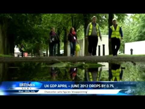 UK GDP April -- June 2012 drops by 0.7%