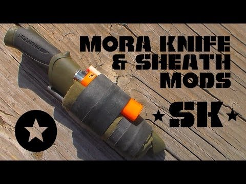 Mora Knife and Sheath Modifications