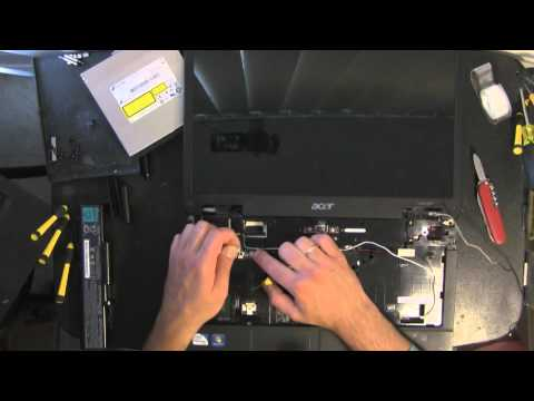 ACER ASPIRE 5734Z take apart video. disassemble. how to open disassembly