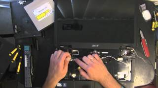 ACER ASPIRE 5734Z take apart video, disassemble, how to open disassembly